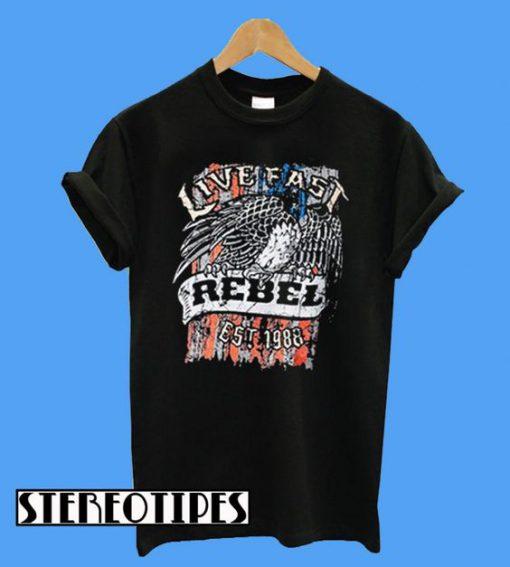 Live East Rebel Est 1988 T-Shirt