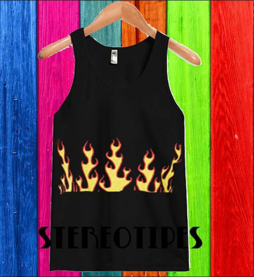 About Darling Damnation Flame Cropped Tank Top