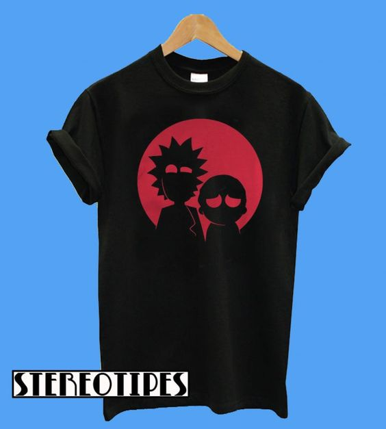rick and morty minimalist characters t shirt stereotipes