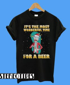 Rick and Morty It's The Most Wonderful Time For a Beer T-Shirt