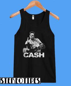 Johnny Cash Middle Finger Guitar Tanktop