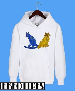Abba Blue and Yellow Cat Hoodie