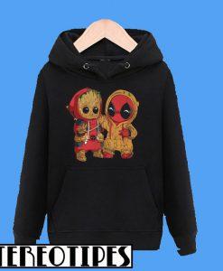 Baby Groot And Deadpool Hoodie