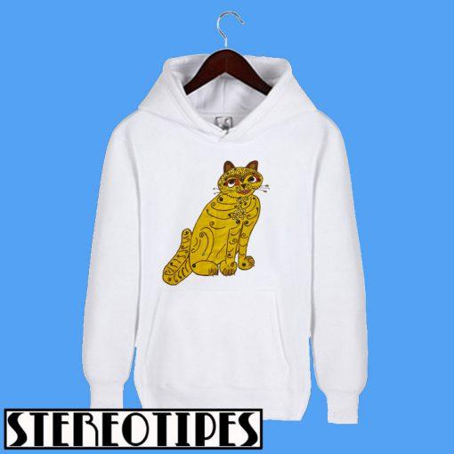 Abba Yellow Cat Hoodie