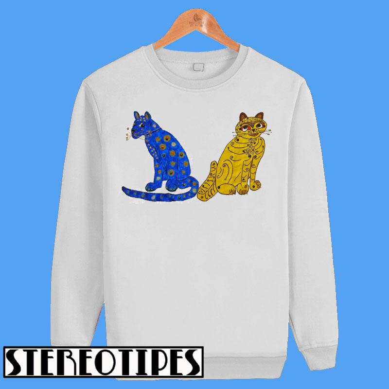 4b28cb83df8fc Abba Blue and Yellow Cat Sweatshirt