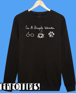 Hot I'm a Simple Woman I like Harry Potter Coffee and Dog Sweatshirt