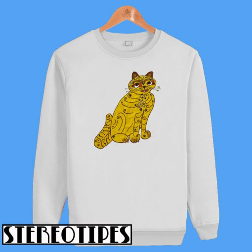 Abba Yellow Cat Sweatshirt
