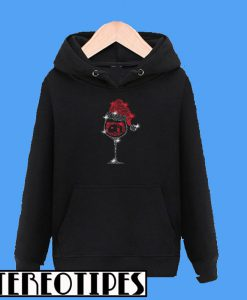 Xmas Wine Glass And Camping Hoodie