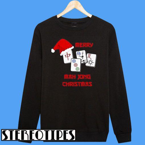 Merry mah jong Christmas Chinese Jewish Game Sweatshirt