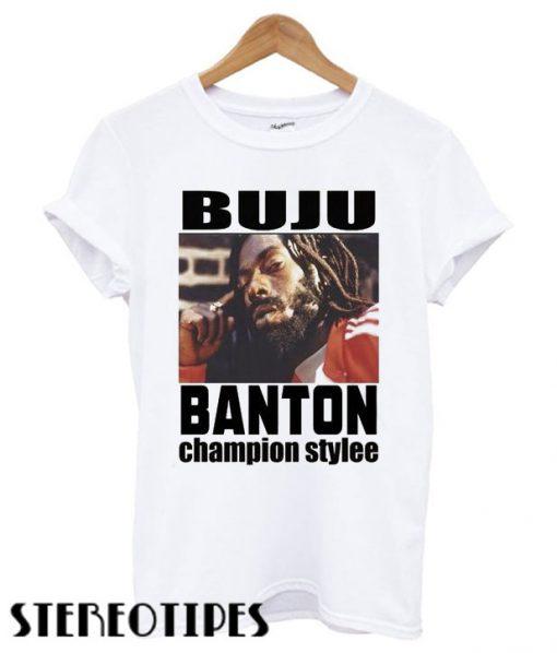 Buju Banton Champion Style T shirt