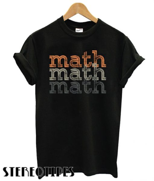Math Repeat Retro T shirt