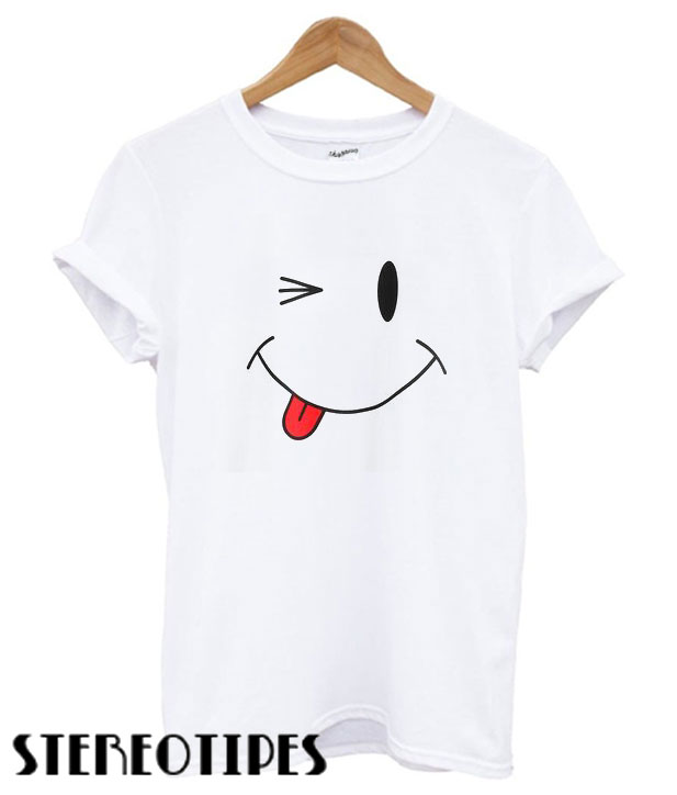 d6ea96551c SheIn Smiley Face T shirt