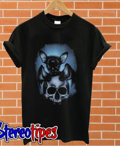 2018 Bat Chihuahua and skull T shirt