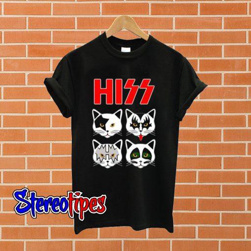 Hiss Kiss Cats Unisex T shirt