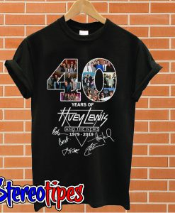 40 years of Huey Lewis and the news 1979 2019 T shirt