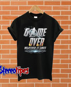 Avengers Endgame Inspired and DC Comics On Game Over T shirt
