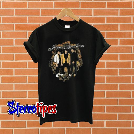 Jonas Brothers 2008 Tour Burnin' Up T shirt