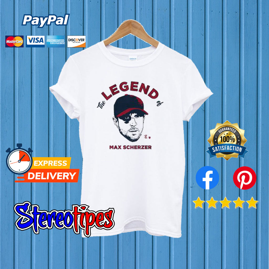 huge discount 9ba8b 788e4 The Legend Of Max Scherzer T shirt