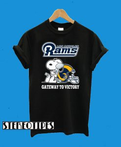 Los Angeles Rams Gateway To Victory Super Bowl 2019 Snoopy Football T-Shirt