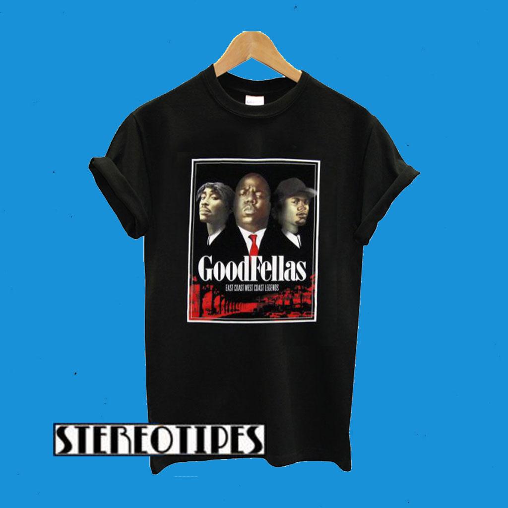 3Forty Inc. Mens Tupac Biggie Eazy-E Goodfellas T-Shirt