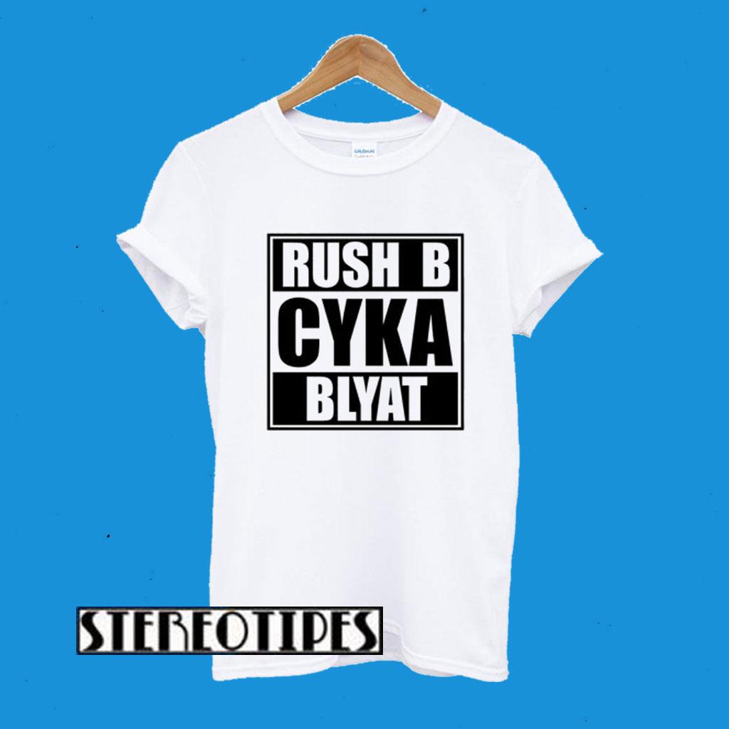 Russian Gamer Cyka Blyat Rush B Cs Go Funny Artsy T-Shirt