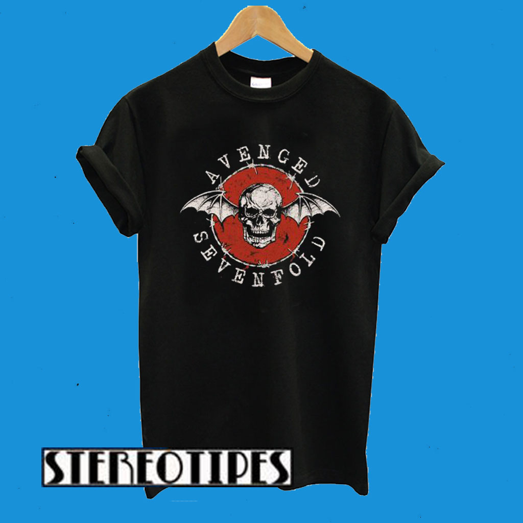 Avenged Sevenfold Red Bat Skull T-Shirt