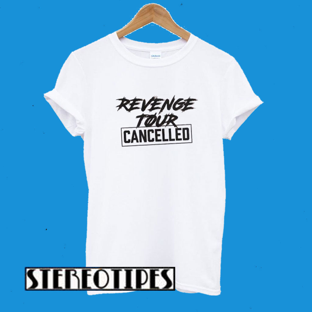 Revenge Tour Cancelled White T-Shirt