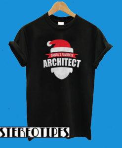 Christmas Santa's Favorite Architect T-Shirt