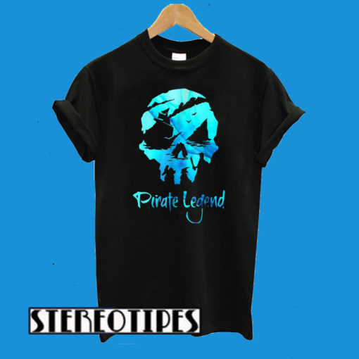 Pirate Legend Sea Of Thieves Skull T-Shirt
